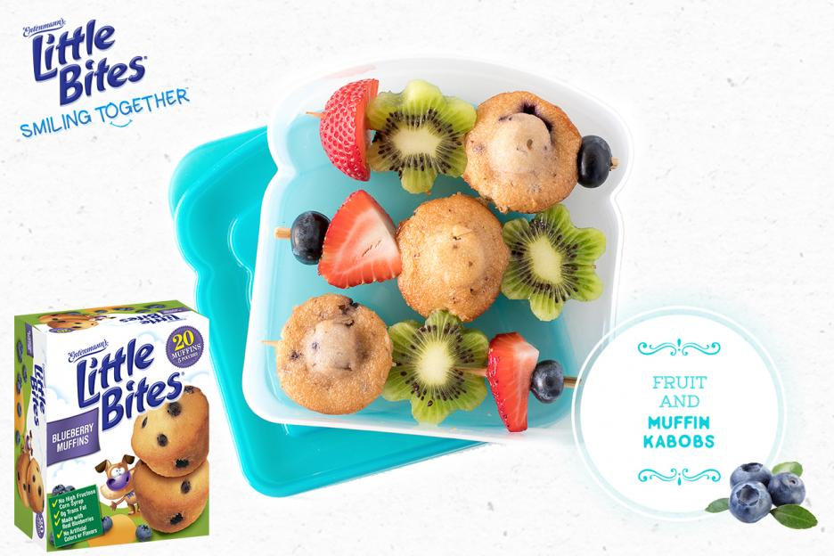 Fruit and Muffin Kabobs