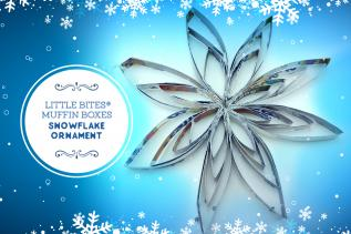 Little Bites® Muffin Boxes Snowflake Ornament
