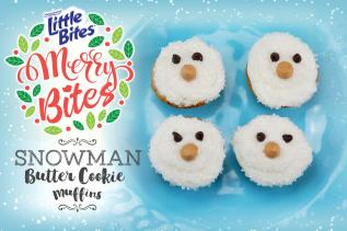 Snowman Butter Cookie Muffins