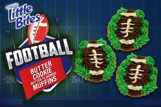 Football Butter Cookie Muffins
